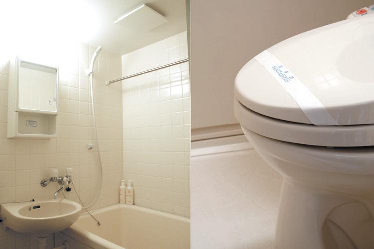 清潔なバストイレ