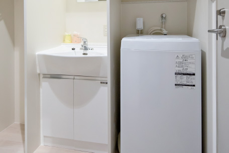全室完備の洗濯機